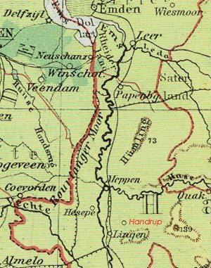 Karte Emsland