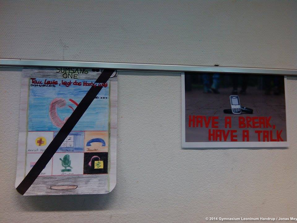 Plakat - Handywerbung