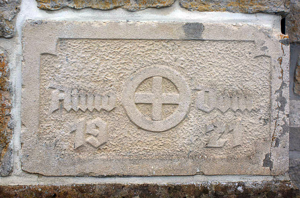 Grundstein Kloster Handrup von 1921