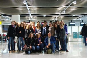Gruppenfoto Austausch Madrid