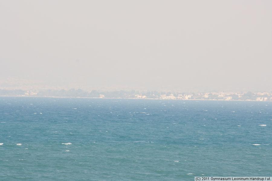 Rauch über der Bucht von Patras