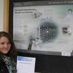 Ausgezeichnet für erfolgreiche Teilnahme: Christina Wetstein