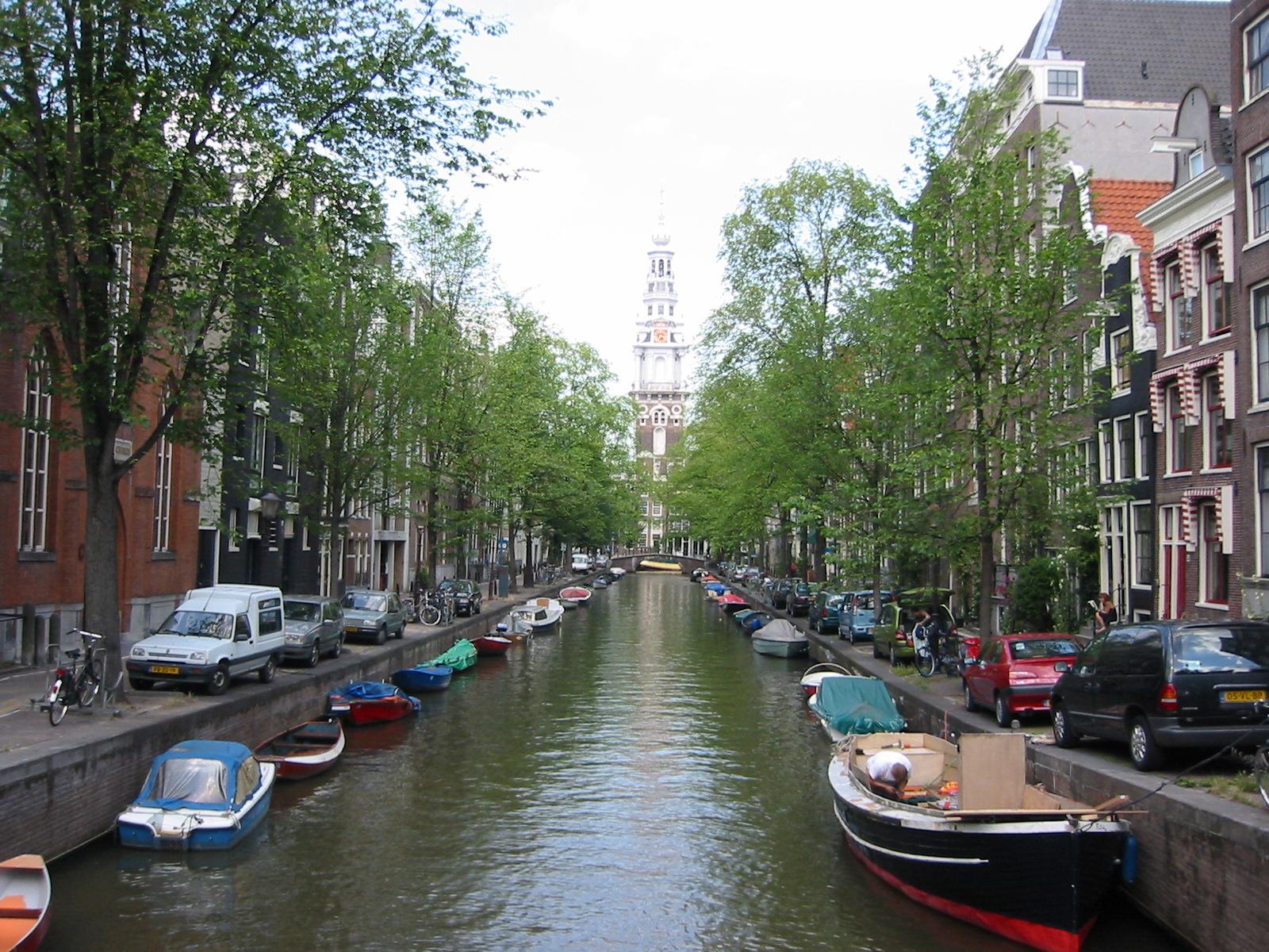 60.Amsterdam, Groenburgwal mit Zuiderkerk