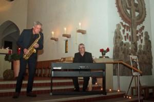 Jan von Klewitz und Markus Burger (v. links) begeisterten in Handrup