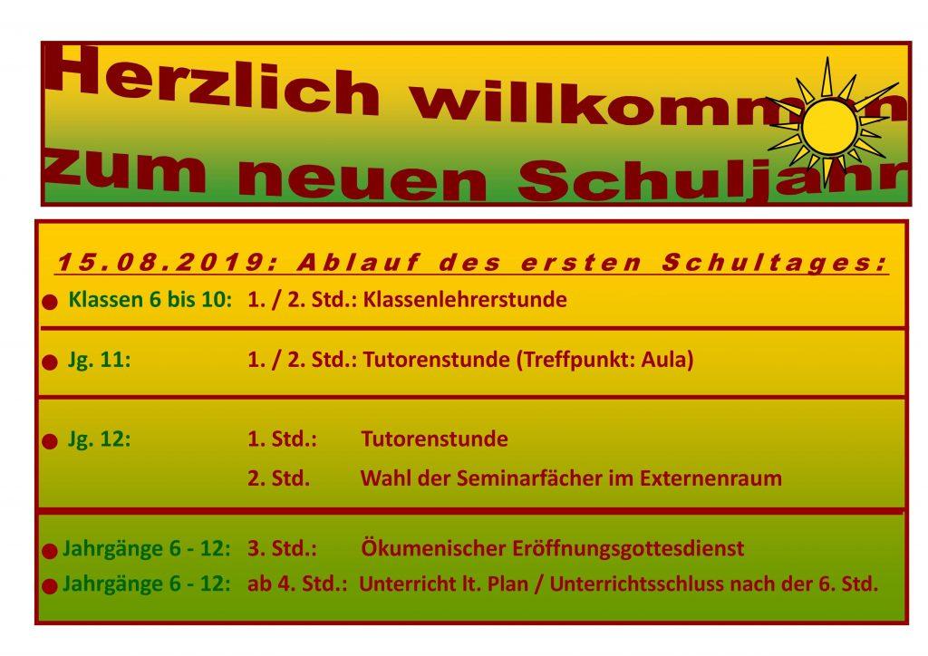 Erster Schultag Niedersachsen 2019 Schulferien